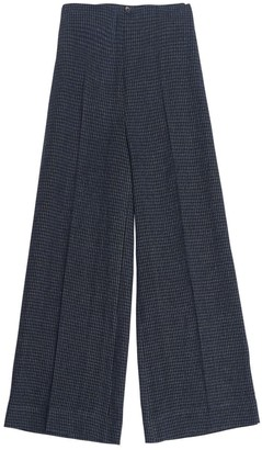 AILANTO Blue Checked Culotte Trousers