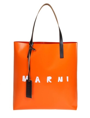 Marni Shopping Bag In Two-tone Pvc