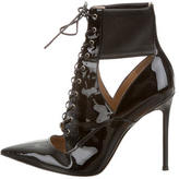 Gianvito Rossi Pointed-Toe Patent Leather Ankle Boots
