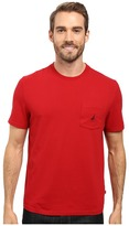 Nautica Short Sleeve Solid Anchor Pocket Tee