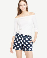 Ann Taylor Petite Gingham City Shorts