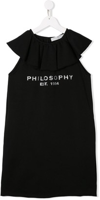 Philosophy Di Lorenzo Serafini Kids logo print T-shirt dress