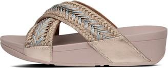 FitFlop Lulu Metallic-Weave Slides