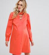 Asos PETITE Tie Waist mini dress with Lattice Front