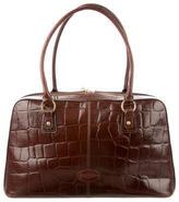 Mulberry Embossed Leather Shoulder Bag