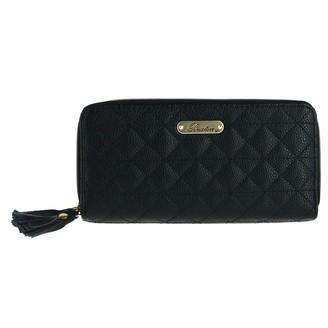 Buxton Women's Slim Double Zip Wallet