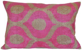 Orientalist Home Andrea Ikat 16x24 Pillow - Pink pink/multi
