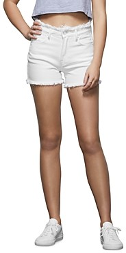 Good American The Cut Off Frayed-Edge Shorts
