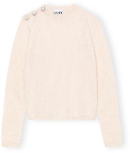 Ganni Cashmere Knit Pullover - XS / Sand