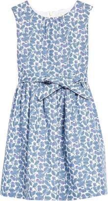 Boden Kids' Floral Print Fit & Flare Dress