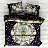 Astrology Mandala Duvet cover Indian Quilt Blanket Cover with pillowcase exclusive Bohemian Doona by Handicraftspalace