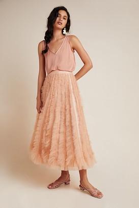 Geisha Designs Orla Textured Tulle Maxi Skirt