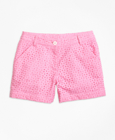 Brooks Brothers Cotton Eyelet Shorts