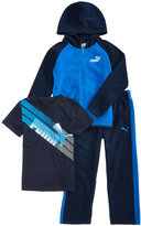 Puma 3-Pc. Hoodie, T-Shirt and Pants Set, Toddler Boys (2T-5T)