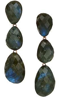 Monica Vinader Women's Nura 18K Rose Gold Vermeil & Labradorite Triple Drop Earrings