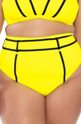 Becca Etc Scuba High Waist Bikini Bottoms