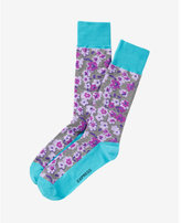 Express floral print dress socks