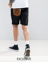 Reclaimed Vintage Revived Levis Shorts With Leopard Pocket Patch