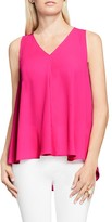 Vince Camuto V-Neck High Low Top