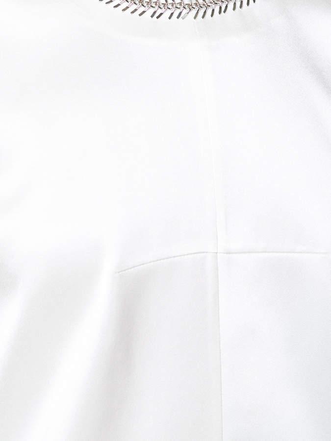Alexander Wang embellished collar top