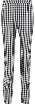 Narciso Rodriguez Gingham Wool-twill Straight-leg Pants