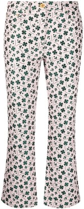 Boutique Moschino Floral-Print Flared Jeans