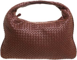Bottega Veneta Brown Nappa Leather large Intrecciato Veneta Hobo
