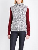 Calvin Klein Contrast-sleeve wool-blend jumper