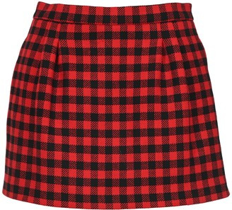 RED Valentino Plaid Shorts