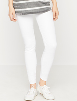 A Pea in the Pod 7 For All Mankind Secret Fit Belly Skinny Maternity Jeans- White