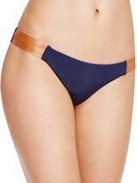 Vix Leather-Accent Bikini Bottom