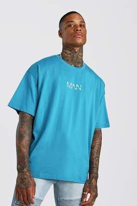 boohoo Oversized Original MAN Print T-Shirt