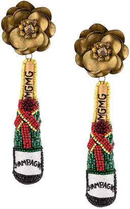 Mignonne Gavigan beaded champagne earrings