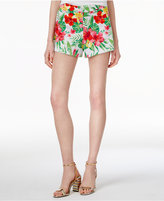 The Edit By Seventeen Juniors' Tropical-Print Shorts, Only at Macy's