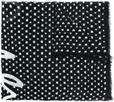 Karl Lagerfeld star print scarf