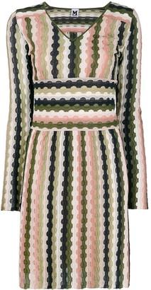 M Missoni Long-Sleeve Mini Dress