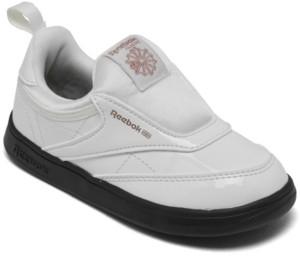 Reebok Toddler Girls Cardi B Club C Slip-On Iii Casual Sneakers from Finish Line