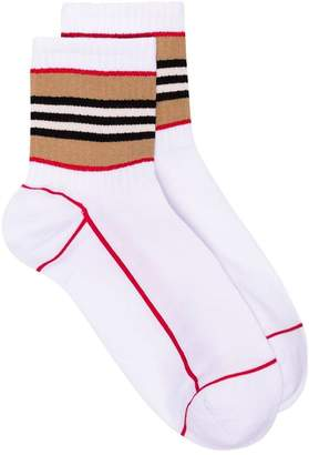 Burberry stripe intarsia cotton socks