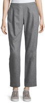 Lafayette 148 New York Soho Italian Flannel Track Pants