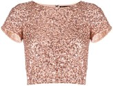 Alice + Olivia sequin cropped T-shirt