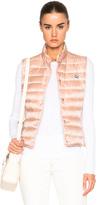 Moncler Liane Polyamide Vest in Neutrals,Pink.