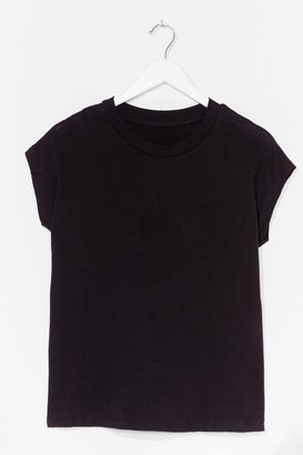 Nasty Gal Womens Stick to the Basics Relaxed Tee - Black - XS