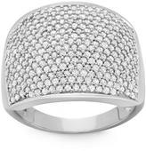 Ice 1.5 CT TDW Diamond 10K White Gold Fashion Ring