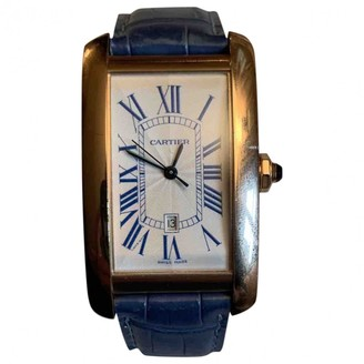Cartier Tank AmAricaine Turquoise Pink gold Watches