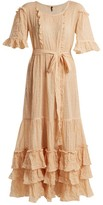 Lisa Marie Fernandez January Striped Seersucker Dress - Womens - Orange Stripe
