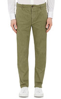 Incotex MEN'S TWILL CHINOS-GREEN SIZE 33