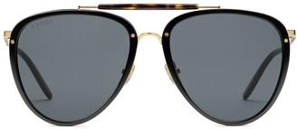 Gucci Aviator-Frame Tinted Sunglasses