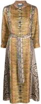 Pierre Louis Mascia Printed Belted Dress