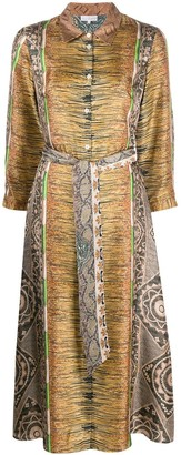 Pierre Louis Mascia Printed Belted Dress