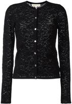 MICHAEL Michael Kors pointelle cardigan - women - Cotton/Nylon/Viscose - S